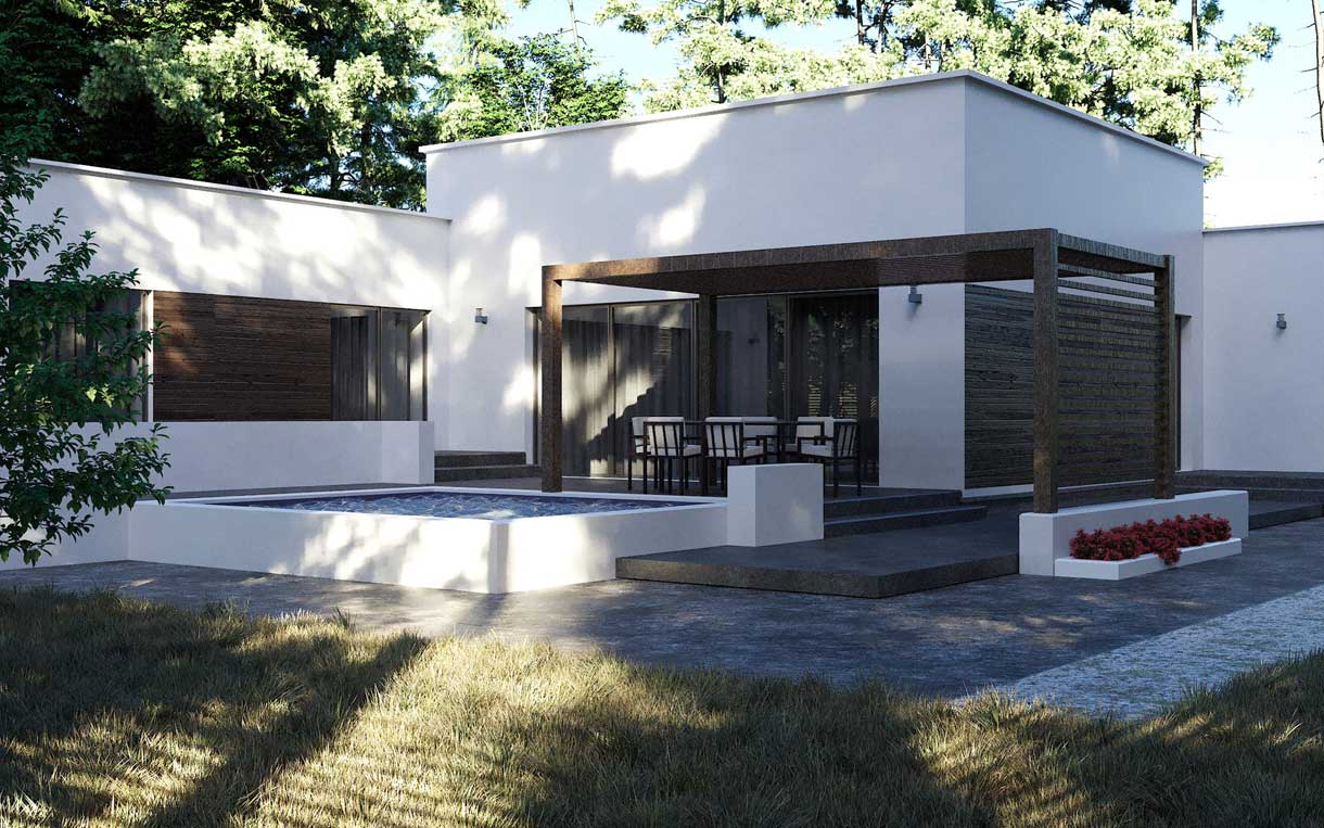 Строительство домов с террасой