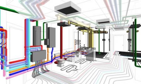монтаж систем отопления офиса