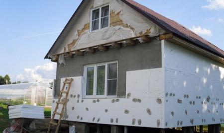 утепление минплитой фасада
