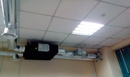 монтаж систем вентиляции офиса